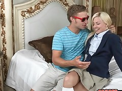 Delightful older and juvenile hottie get their twats fucked wildly
